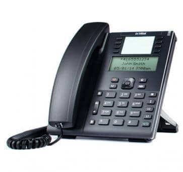 "Mitel 6865 SIP phone with large 3.4"" 128x48 pixel LCD display"