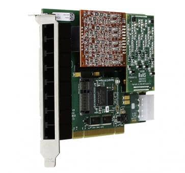 Digium 1A8A00F 8 port base card analog PCI (without modules)