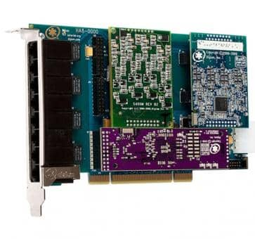 Digium HA8-0000LF Hybrid Base Card PCI 8 Ports