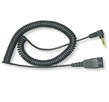 freeVoice ST25A cord 2.5mm with QD and 2,5mm jack curled 8800-01-46-FRV