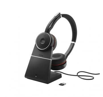 JABRA Evolve 75 Bluetooth Headset Duo MS NC inkl. Ladestation 7599-832-199