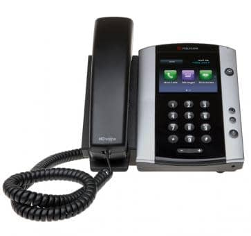 Polycom VVX500 IP phone PoE Skype for Business (no PSU) 2200-44500-019