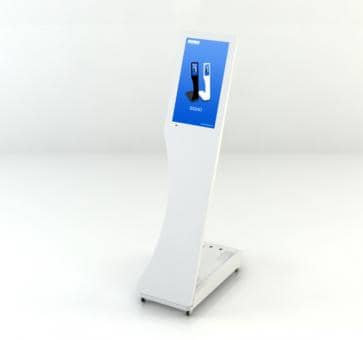 SWEDX Signo Mini-Stele SWSS156-A1 Digital Signage 15,6 Zoll weiss