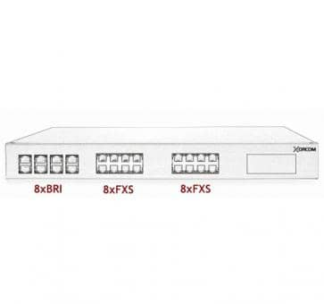 Xorcom Astribank - 8 BRI + 16 FXS - XR0043