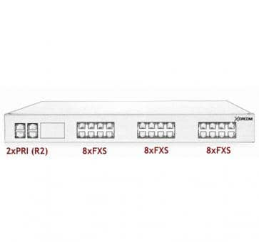 Xorcom Astribank - 2 PRI + 24 FXS - XR0059