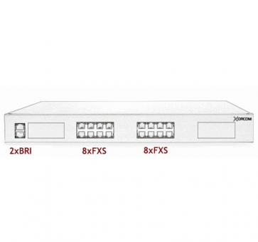 Xorcom Astribank - 2 BRI + 16 FXS - XR0065