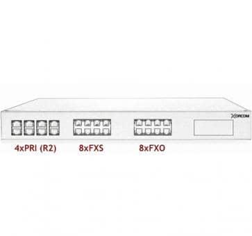 Xorcom Astribank - 4 PRI + 8 FXS + 8 FXO - XR0084