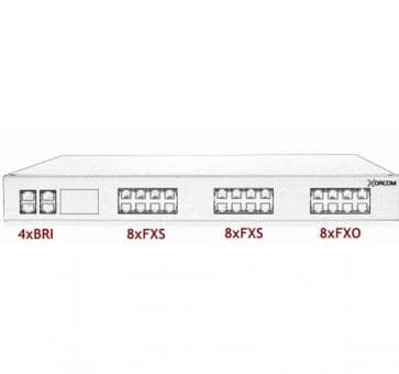 Xorcom Astribank - 4 BRI + 16 FXS + 8 FXO - XR0098