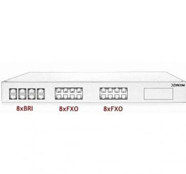 Xorcom Astribank - 8 BRI + 16 FXO - XR0100