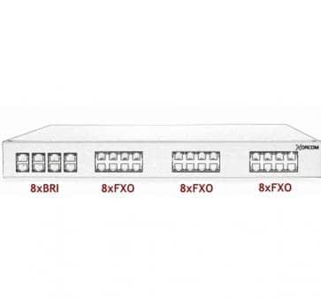 Xorcom Astribank - 8 BRI + 24 FXO - XR0101
