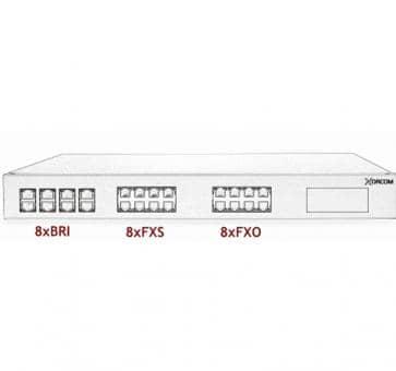 Xorcom Astribank - 8 BRI + 8 FXS + 8 FXO - XR0102
